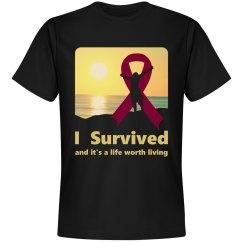 I Survived Black T Shirt