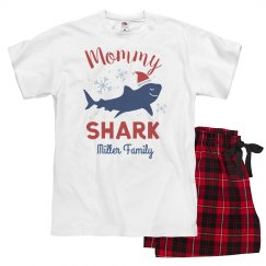 Mommy Shark Matching Custom Family Christmas Pajamas