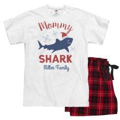 Mommy Shark Matching Custom Family Christmas Pajamas