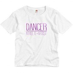 Dancer athlete artist tee
