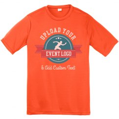 Custom Event Logo Upload Youth Performance Tee