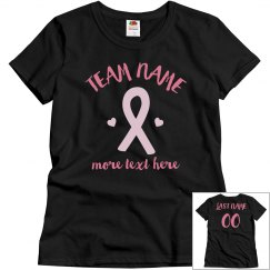 Custom Breast Cancer Team Name