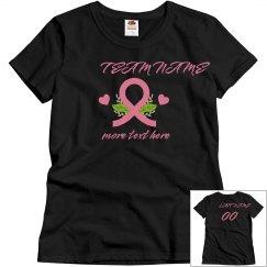 Team Name Breast Cancer Custom Ribbon Top