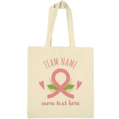 Custom Team Breast Cancer Tote