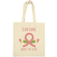 Custom Team Breast Cancer Tote