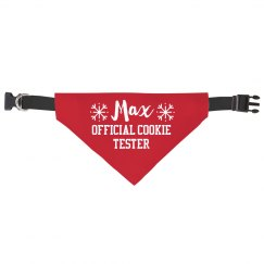Christmas Dog Cookie Tester Pet Bandana