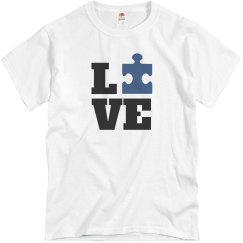 Autism Awareness puzzle Piece Love
