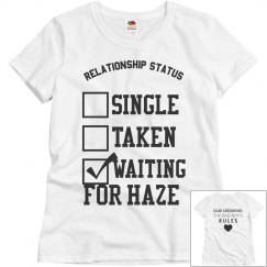 WAITING FOR HAZE WHITE T-SHIRT