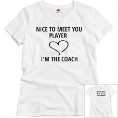 NICE TO MEET YOU PLAYER white T-shirt