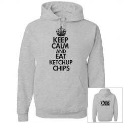 EAT KETCHUP CHIPS grey hoodie