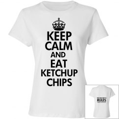 EAT KETCHUP CHIPS white T-shirt 2