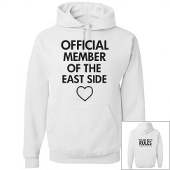 MEMBER OF THE EAST SIDE white hoodie