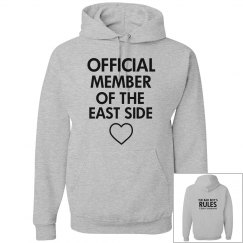MEMBER OF THE EAST SIDE grey hoodie