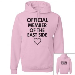JERK, PRUDE text messages pink hoodie