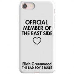 MEMBER OF THE EAST SIDE iPhone 8 Slim Fit Case