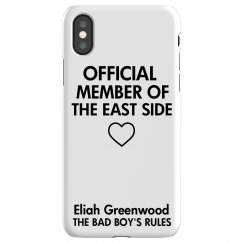 MEMBER OF THE EAST SIDE iPhone X Slim Fit Snap Case