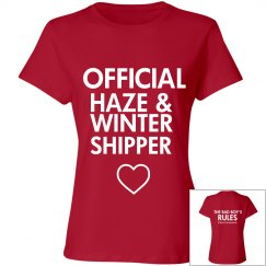 HAZE AND WINTER SHIPPER red T-shirt