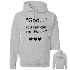 YOU CAN CALL ME HAZE grey hoodie