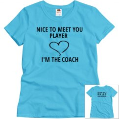 NICE TO MEET YOU PLAYER blue T-shirt
