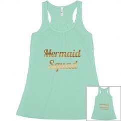 Mermaid Squad Mint Green Tank