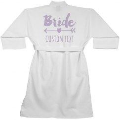 Custom Bride Waffle Weave Robe