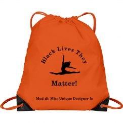 Black Lives They Matter Dance Drawstring Bag