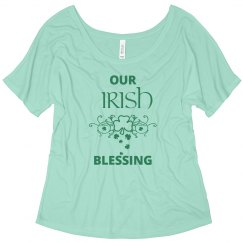 Our Irish Blessing St Patricks Maternity Shirt