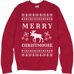 Merry Christmoose Ugly Sweater