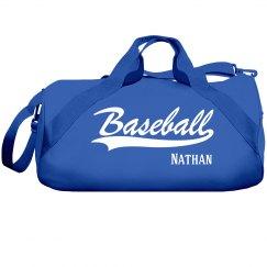 Nathan's Baseball bag
