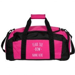 Fear the Bow Custom Cheer Bag