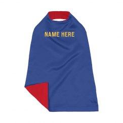 Custom Name Kids Superhero Cape