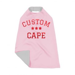 Custom Kids Metallic Text Cape