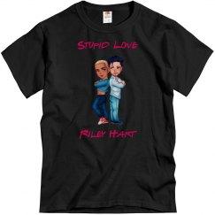 Stupid Love men's black tee