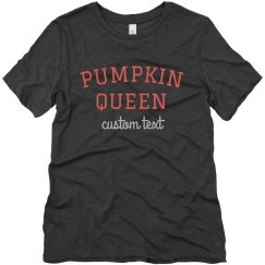 Pumpkin Queen Cute Custom Pumpkin Picking Tee