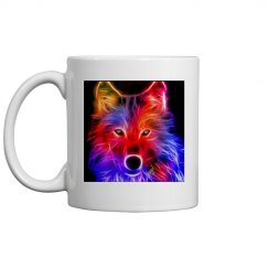 Neon wolf cup.