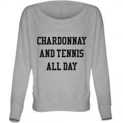 chardonnay and tennis