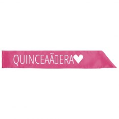 Quinceañera Sash 15th Birthday