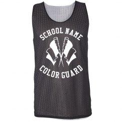 Custom School Name Color Guard Jersey