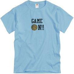 Basketball Game On blue