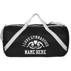 I Love Gymnastics Custom Sport Bag