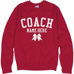 Customizable Cheer Coach Sweatshirt