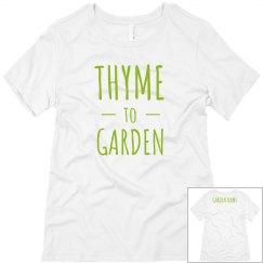 Custom Garden Name Tee
