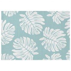 Pastel Plant Print Tropical Rug