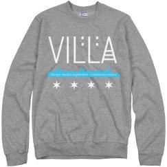 Villa Chicago Skyline-Flag Cozy Sweatshirt