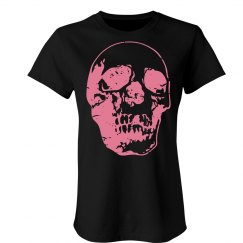 Distressed Pink Skull