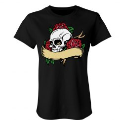 Full Color Skull & Roses