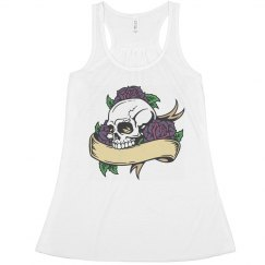 Skull & Purple Roses