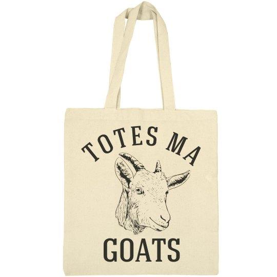 960c8fbbf7c8 Totes Ma Goats Inexpensive Tote Bag Pun