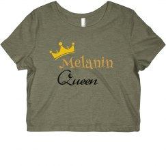 Melanin Queen CROP TEE