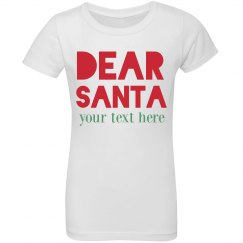 Custom Dear Santa Kids Shirt